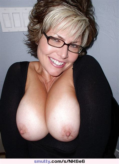 milf mature smile glasses tits boobs hooters juggs