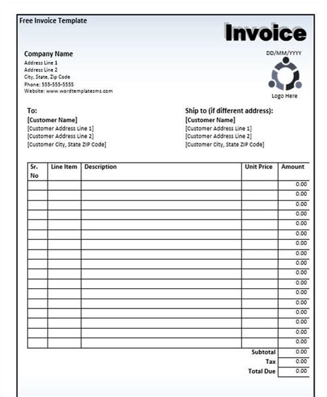 business invoice  sample  format