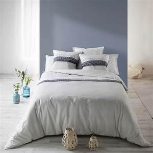 Parure De Lit Coton Sofia Bleu Best Interior Livraison
