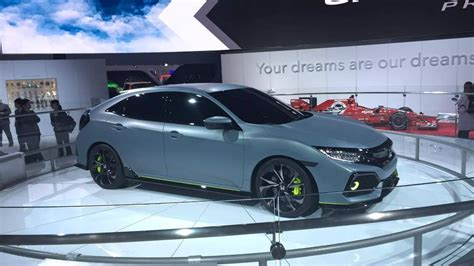 honda civic hatchback prototype shows  curves