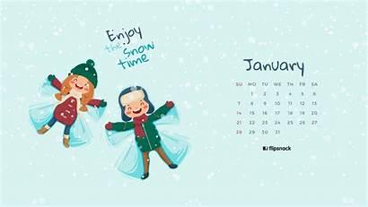 Calendar Desktop January Background Wallpapers Computer 1080