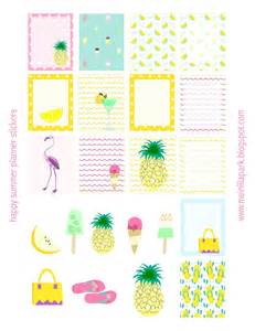 free printable summer planner stickers ausdruckbare