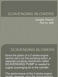 Scavenging Blowers