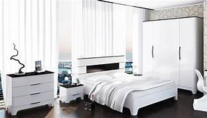 Schlafzimmer Komplett Weiß Hochglanz : schlafzimmer komplett 5 teilig schwarz wei hochglanz neu komplett schlafzimmer ~ Indierocktalk.com Haus und Dekorationen