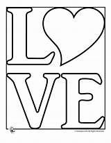 Coloring Pages Heart Word Printable Bubble Letters Hearts Print Peace Stencil Template Birds Loved Adult Activities Age Valentine sketch template