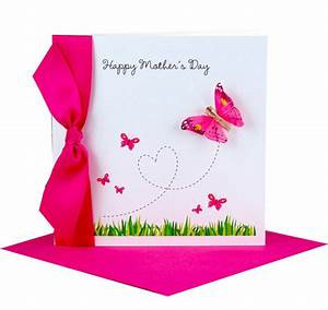 personalised butterfly mothers day card by made with love ...