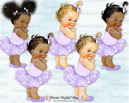 Ballerina Afro Puff Tutu Yellow Princess Clipart