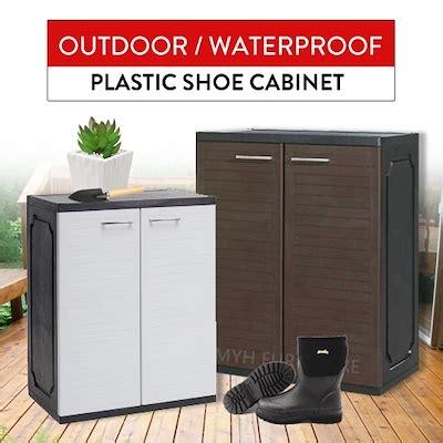 qoo plastic shoe cabinet waterproof outdoor