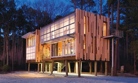 prefab loblolly house redefines  architecture
