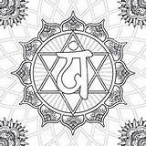 Chakra Coloring Pages Anahata Vector Mandala Colouring Symbols Adult Heart Istock Healing Illustration Printable Sheets Books Throat Colors Getcolorings Getdrawings sketch template