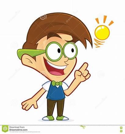 Idea Creative Clipart Cartoon Character Nerd Geek