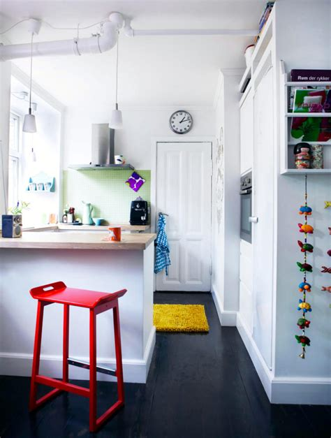 white kitchen with colorful accents kitchen in black and white with color accents interior 1833