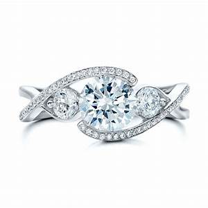 custom diamond wrap engagement ring 101472 bellevue With wedding ring wrap