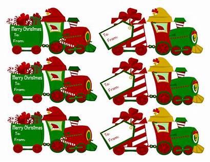Tags Christmas Train Gift Printables Clipart Homemade