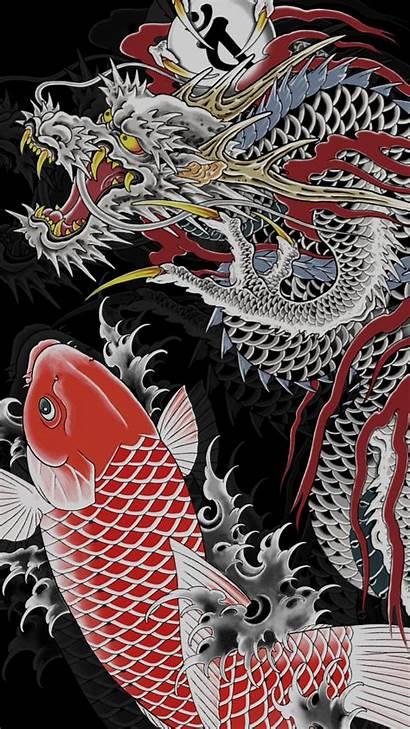 Dragon Japanese Wallpapers Yakuza Aesthetic Phone Backgrounds