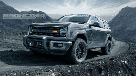 ford bronco sharply rendered   door removable roof