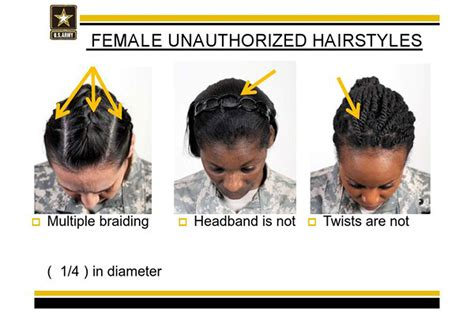 military rolls  restrictions  black hair styles time