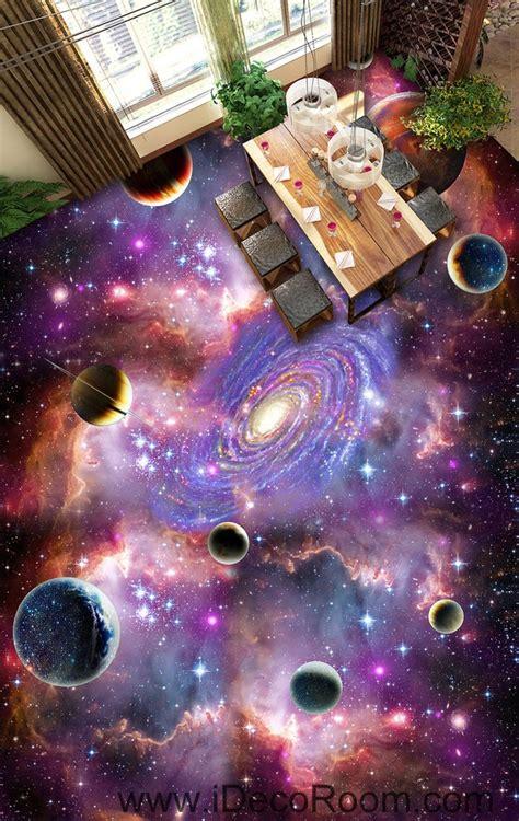flooring galaxy universe planet nebula galaxy 00075 floor decals 3d wallpaper wall mural stickers print art