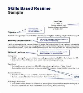 Retail resume templets 7 free samples examples format sample templates for Skill based resume examples