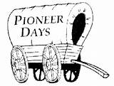Pioneer Coloring Clipart Wagon Days History Covered Cliparts Library Pioneerdays Oliver sketch template