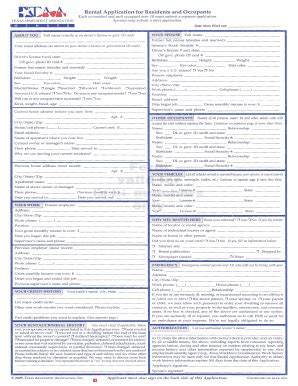 texas rental application form fill printable fillable blank