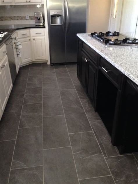 slate kitchen floor tiles slate look kitchen tile floor for the home 5319