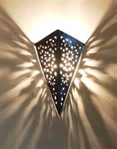 pierced iron moroccan wall light garden walls