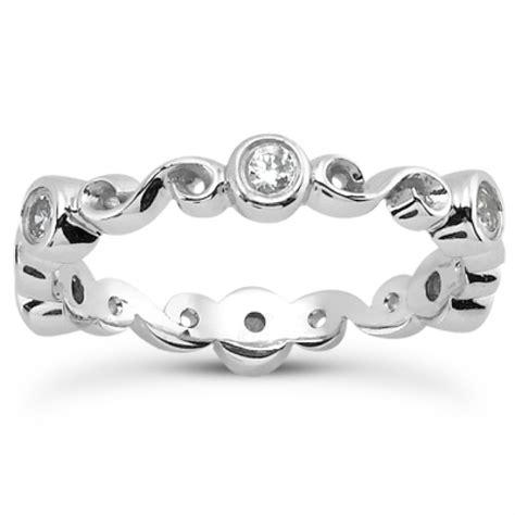 0 30 ct ladies round cut diamond eternity wedding band ring