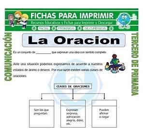 Clases de Oraciones para Tercero de Primaria Fichas para Imprimir