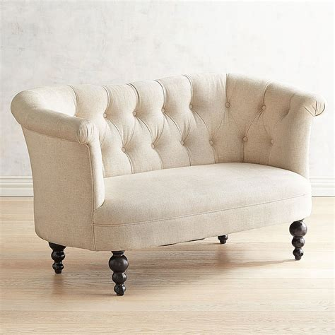 The Loveseat by Colette Flax Beige Loveseat Pier 1 Imports