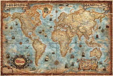 carte du monde murale plastifiee rayworld company carte murale le monde antique style carte de plastifi 233 e en