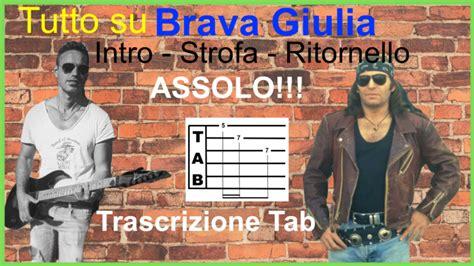 vasco brava giulia testo guitar tabs tablature per chitarra tutorial