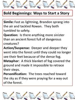 bold beginnings  catchy conclusions