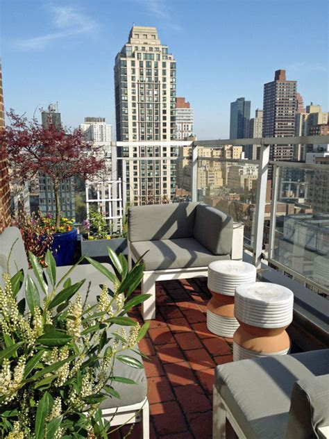 nyc terrace deck roof garden balcony container plants
