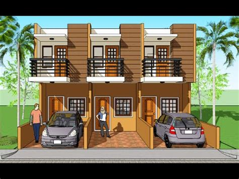 Triplex House Plans And Design Model Marian  Youtube