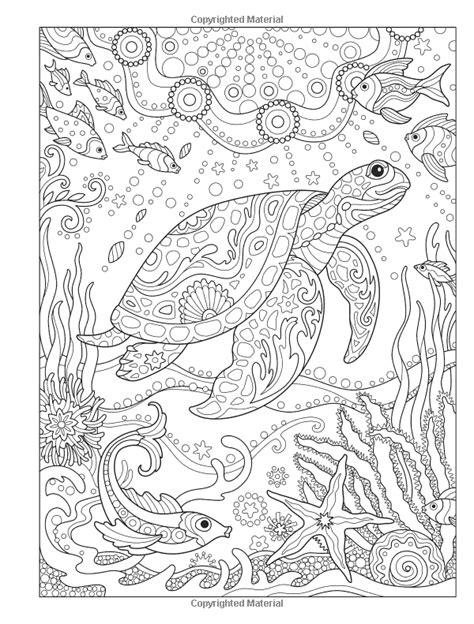 Amazon.com: Creative Haven Fanciful Sea Life Coloring Book