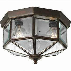 Progress lighting p antique bronze light flush