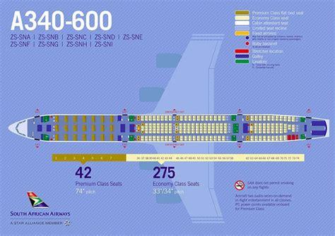 Airbus A340 642 Seat Plan
