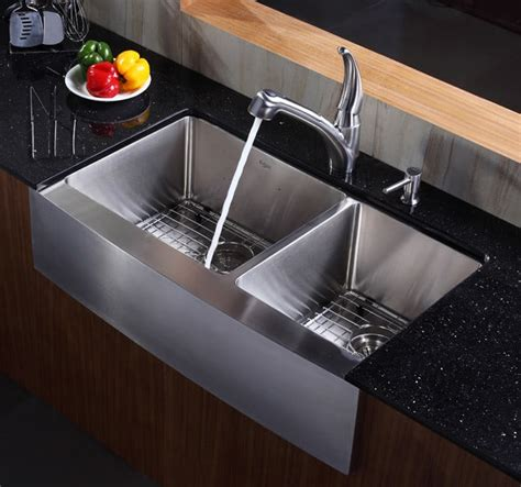 36 inch kitchen sink kraus khf20336 36 inch stainless steel 60 40 bowl 3882