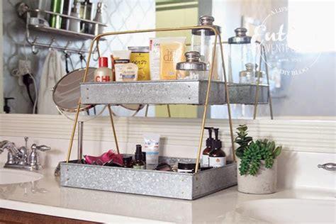 bathroom countertop storage ideas creative bathroom counter organizing idea entirely