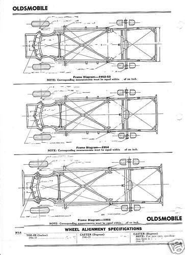 67 Mustang Coupe Window Diagram by 1952 53 54 55 Oldsmobile Nos Frame Dimensions Alignment Ebay