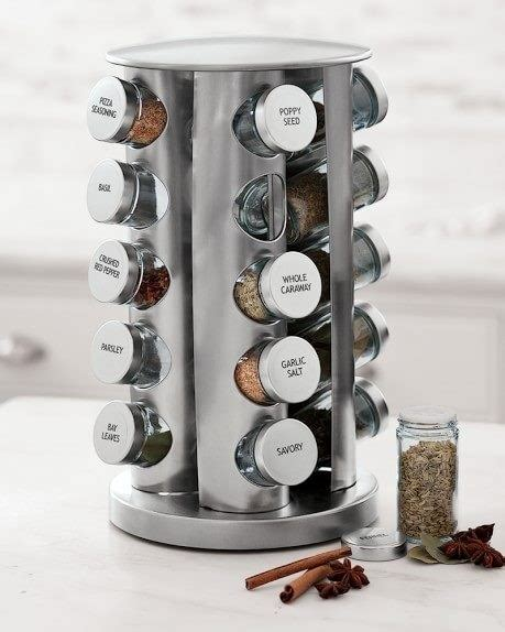 Spice Rack Stand by Spice Rack Stand Carousel Rotating Glass 20 Jars