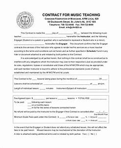 teacher agreement contract sample 9 examples in word pdf With student teacher contract template