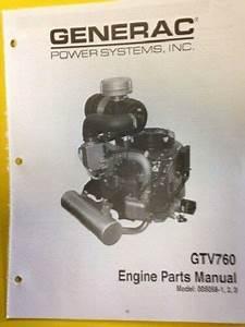 Dixie Chopper Generac Gtv 760 Engine Parts Manual Model