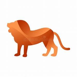 Wild Lion Animal Jungle Pet Logo Silhouette Of Geometric ...