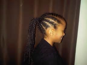 Corn Rows with Ponytail Styles