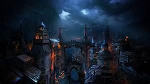 Alexey, Kondakov, Kondakov, Matte, Paintings, Fantasy, Zaorn, City, World, Cities, Dark, Night