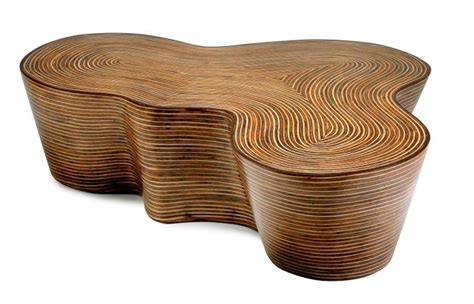 Home sustainable rattan furniture coffee table sustainable rattan ethically handcrafted natura. Organic Striped Wood Coffee Table - Mecox Gardens