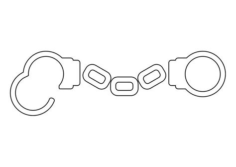 coloring page handcuffs  printable coloring pages