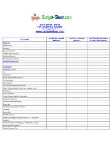 Income and Expense Sheet Template